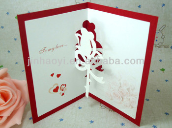 shenzhen printing handmade new year greeting fairy pop up cards collection