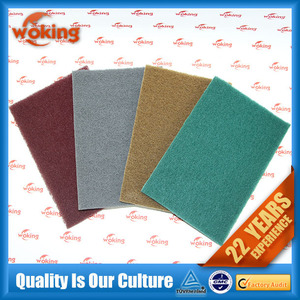 Industrial scouring pad for hardware