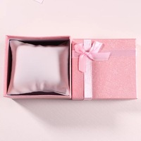 Free Design!!Custom logo pink single cardboard luxury watch box