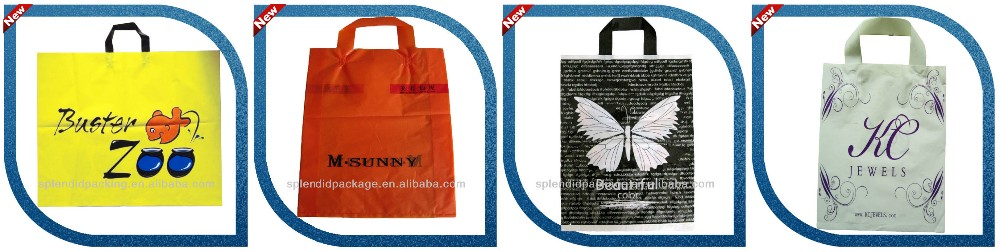 Disposable Cheap Customized LDPE Orange Plastic Bag