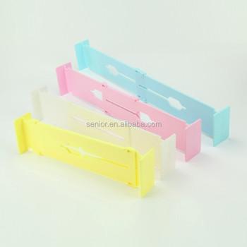 Drawer Divider Adjustable Plastic Storage Box File Cabinet ...