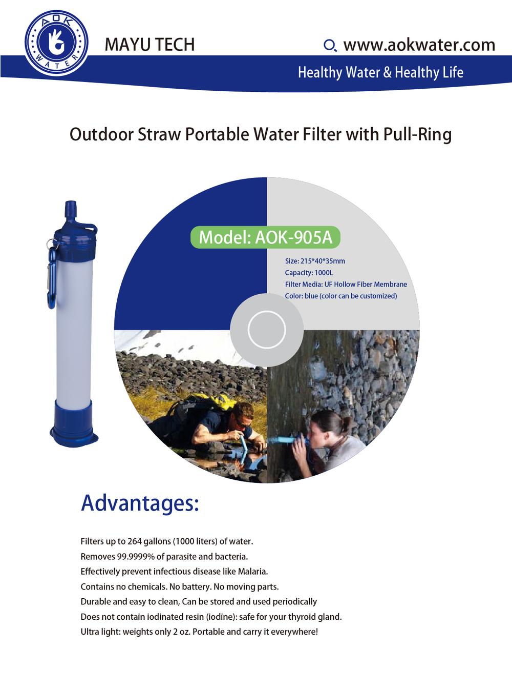 Portable Aok Hexagon Water Filter Water Purifier Motor