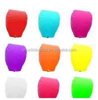 Wholesale Chinese Paper Sky Flying Wishing Lantern Lamp Candle Party Wedding Wish paper lantern