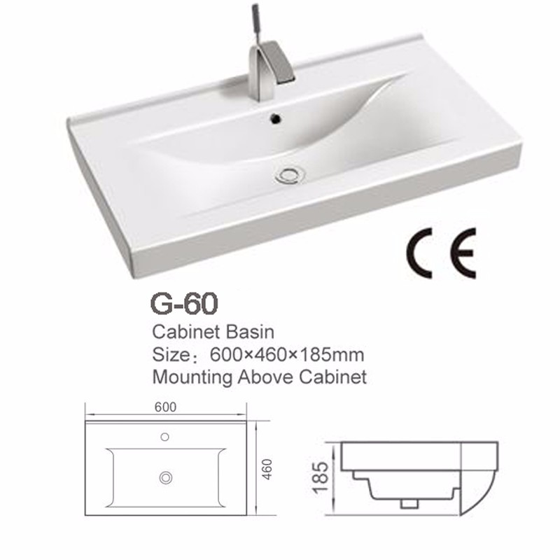 Bathroom Ceramic Sink European Sinks Cabinet Wash Basin G 60