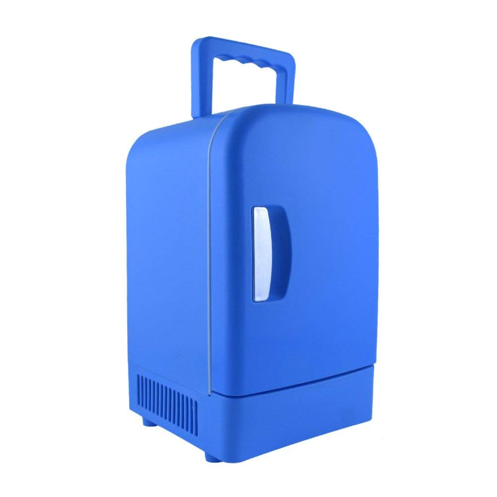 SL&BX Mini kühlteil,4l car refrigerator hom and dual refrigerator multifunction hot & cold car mini car retro mini fridge-Blue 19.5x20.5x34.6cm(8x8x14inch)