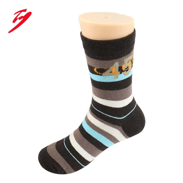 factory supply pretty girls cotton socks with stripe