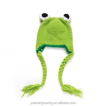 5d751302d Wholesale Handmade Frog Crochet Hat Beanie Hat Baby Winter Warm Plush  Animals Kids Knitted Hats - Buy Crochet Hat,Kids Knitted Hat,Plush Animals  Hats ...