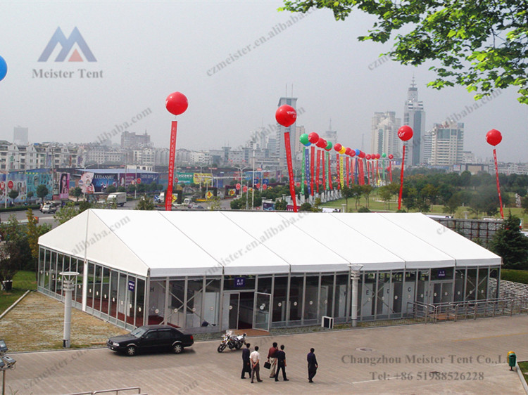 Aluminum expo tent with frame structures for trade shows