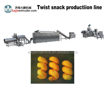 Jinan eagle twisted corn maize puffs snack extruder machine