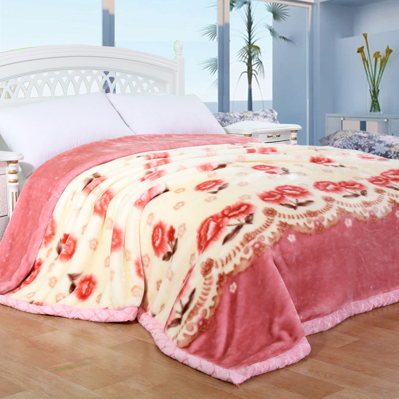 china factory wool mink beach blanket super soft cotton travel blanket