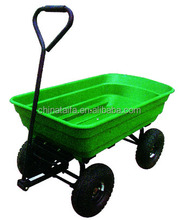 TC2145 Heavy Duty Four wheel garden plastic utility dump cart dump wagon