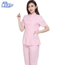 New arrival summer pink short sleeve medical nursing scrubs nurses clinic uniform design pictures