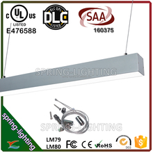 UL DLC CUL SAA listed 30w 40w 50w 80w LED linear light for Schools Supermarkets and Meeting Rooms