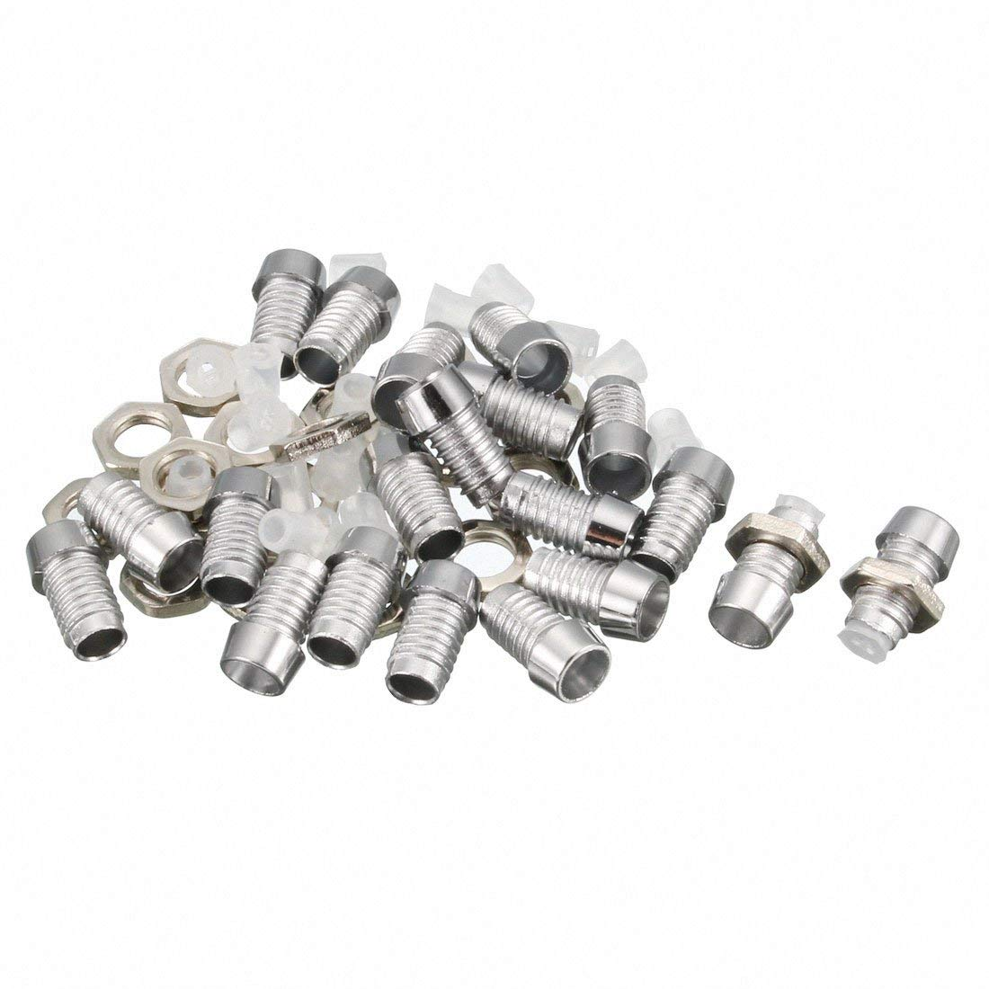 uxcell 20pcs 3mm LED Lamp Holder Light Bulb Socket Plastic Plating Chrome Plated for Light-Emitting Diode Lighting