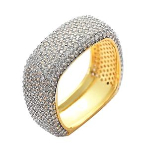 New Arrived Mens Gold Rings Micro Paved Zircon Bling HipHop Jewelry