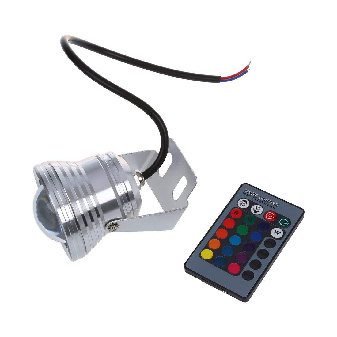 SODIAL(R) 10W RGB LED Waterproof Outdoor Flood Light 16 Color Changing Spot Light Lamp 12V