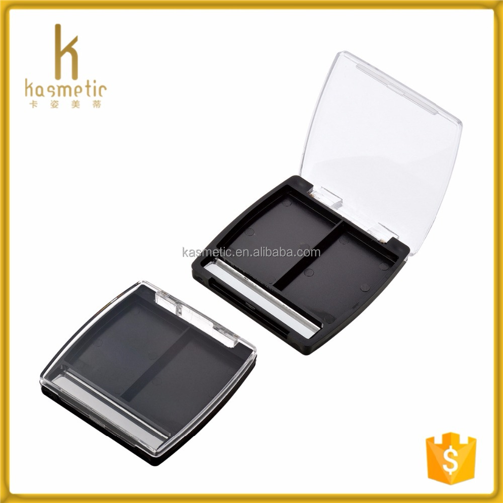 2 pans make-up cosmetic packaging of eyebrow powder empty plastic custom palette