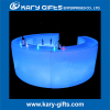 Disco ktv dj entertainment round led light up glow top poseur bar counter led event furniture