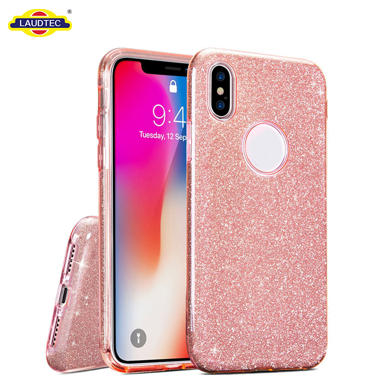 Luxury Case for iphone 10 case glitter Gradient Bling Back Cover