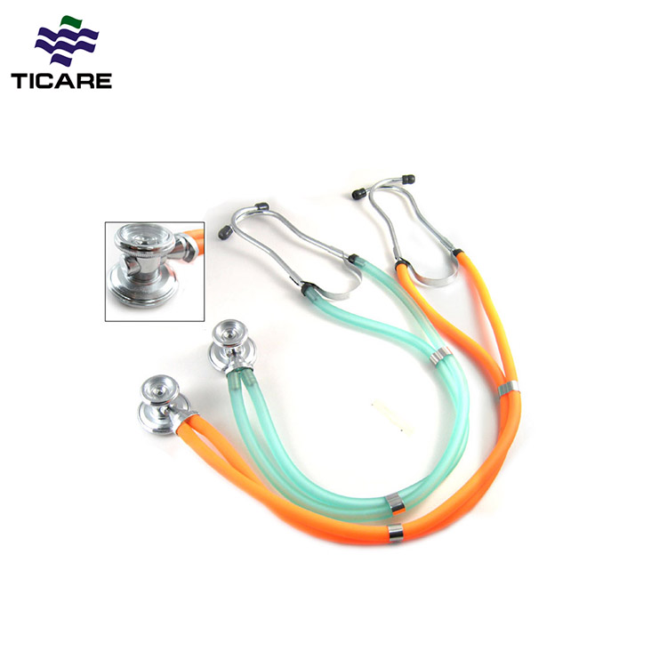 Coloré À Double Tête En Aluminium Stéthoscopes