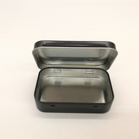 mint tin box small rectangle metal case black and white color for choice