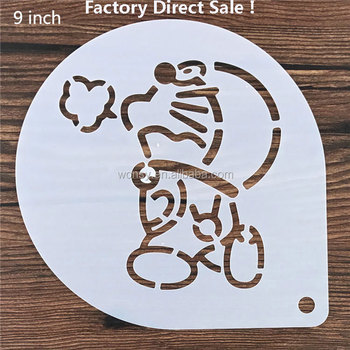 Happy Birthday Kids Cartoon Non Toxic Reusable Baking Stencil Cake