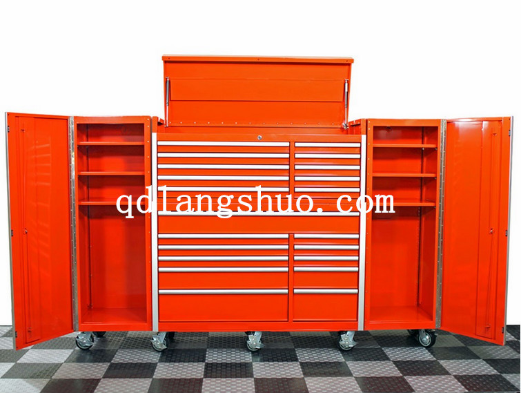 Us General Stainless Steel 72 Quot Powder Coated Tool Box Wih