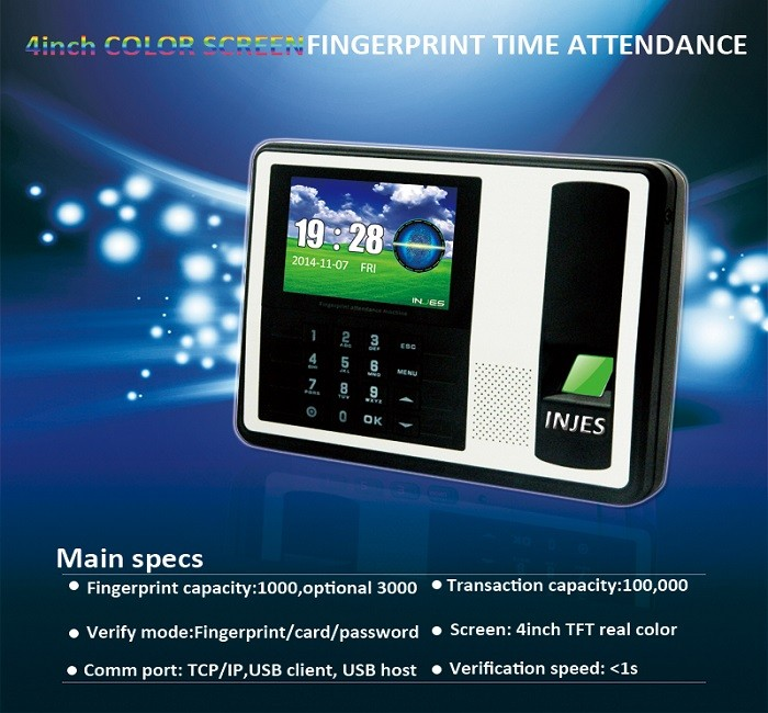 Me58 Tcp Ip Biometric Fingerprint Reader Support Sql Attendance ...