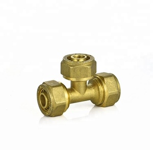 IFAN high pressure lead free equal Tee 370 series push-in brass fittings
