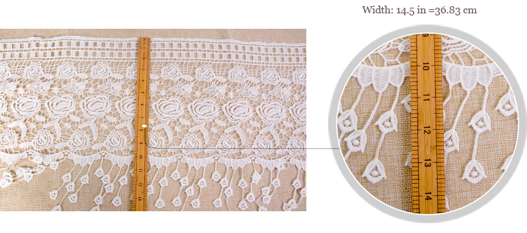 Wholesale french 100 cotton high quality creamy white water soluble textile/ embroidered 3d flower guipure lace fabric