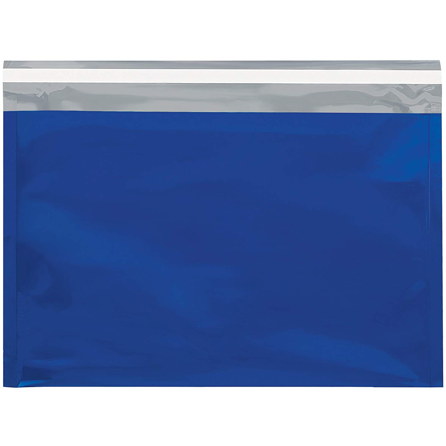 "Boxes Fast BFGFM0912B Metallic Glamour Mailers, 9 1/2"" x 12 3/4"", Blue (Pack of 250)"