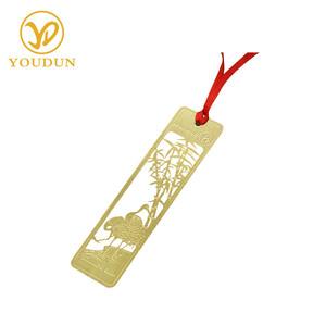 Plating custom laser cutting gold plating bookmark