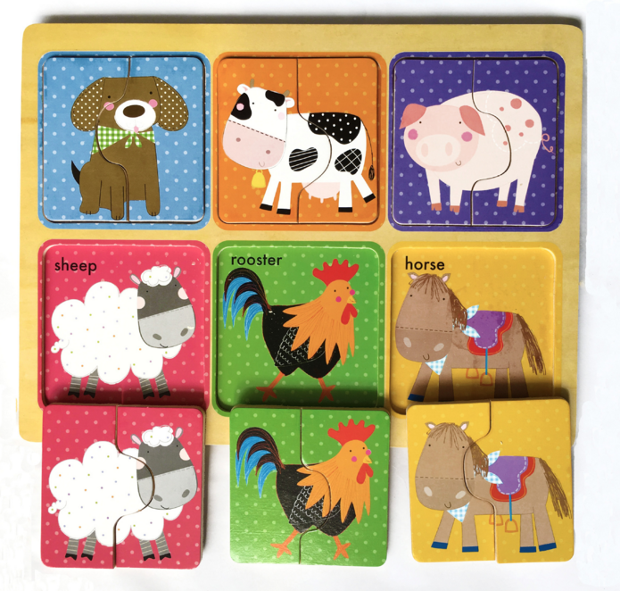 Wooden Puzzles Kid Carton Jigsaw Board Toys For Children