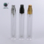 10ml 10 ml rectangle thick bottom slim square  perfume essential oil spray roll on glass bottle with stainless steel roller
