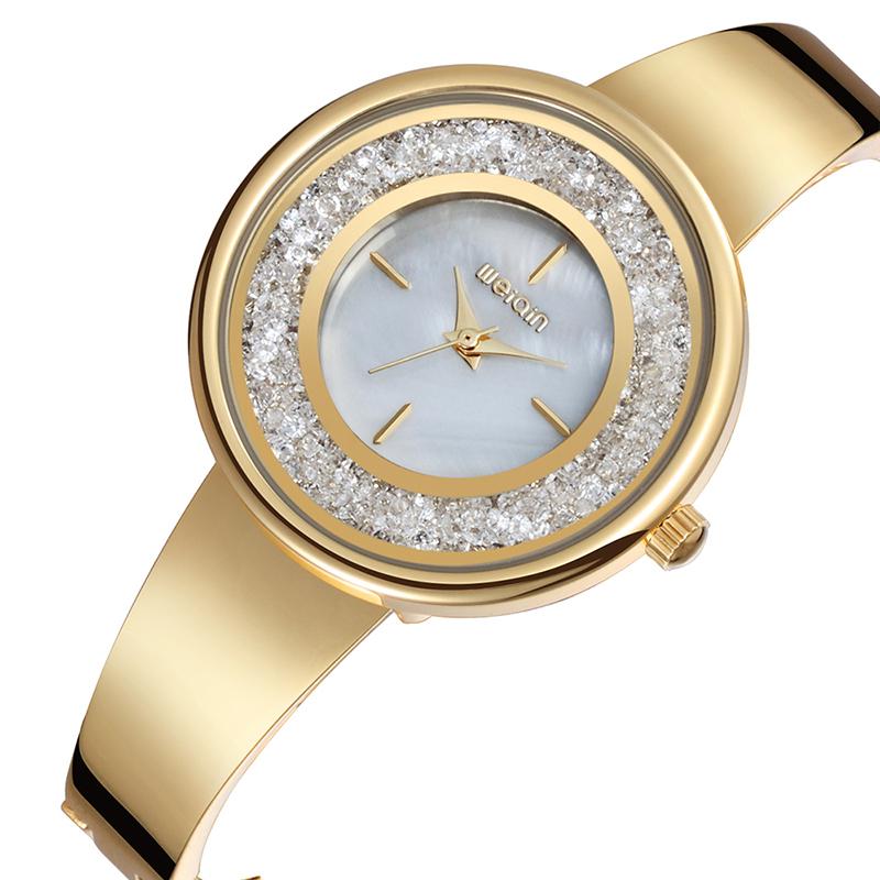 Luxury Diamond Bezel Gold Geneva Quartz Watches Watch