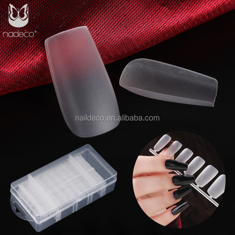 Customized Full Cover Square Head Acrylic Design 10 Sizes Nails Tips