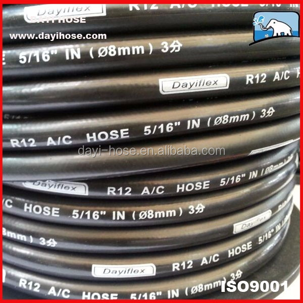 China flexible Auto AC Barrier Hoses pipes R134a R404a R1234yf R12