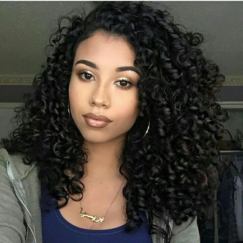 pretty mixed teenagers with curly hair
