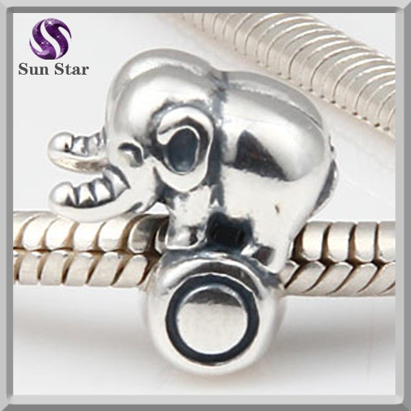 925 sterling silver elephant on ball charms european charms for sale