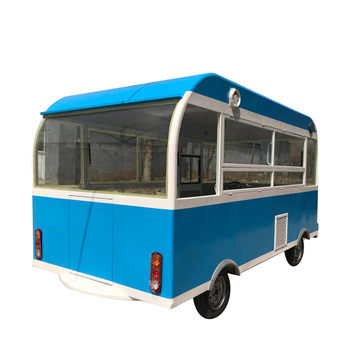 Electric four wheels fast food bicycle food cart truck factory price