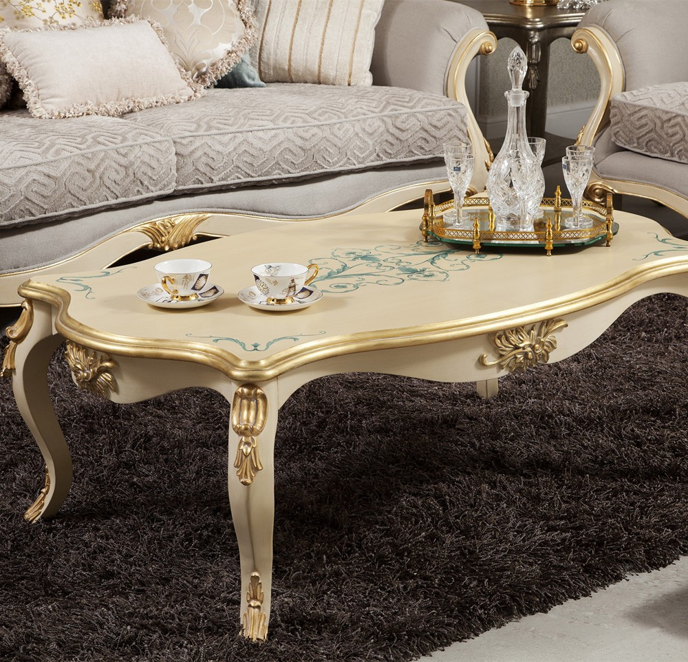 Groothandel paleis arabische wit lak salontafel houten tafels ...