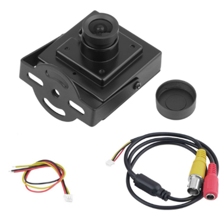 "QE004 1pcs <strong>Mini</strong> HD 700TVL 1/3"" Sony CCD 2.1mm Wide Angle Lens CCTV Security FPV Color Home Security Camera"