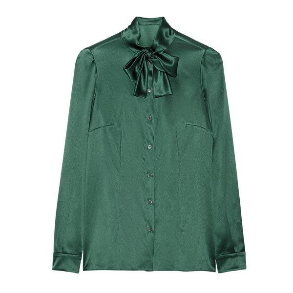 lange groene blouse