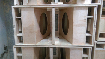 Double 18u0026quot; Subwoofer Speaker Empty Cabinet