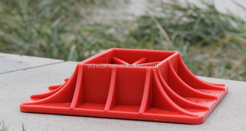 Red Color Recovery Jack Base 4x4 Accessories Base Buy