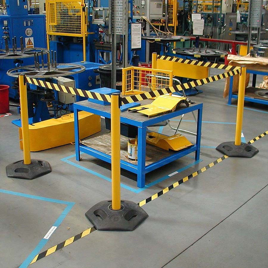 Pvc Industrial Floor Caution Warning Adhesive Masking Road Marking Tape Manufacturers