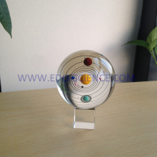 New arrival 3D planet crystal ball with 8cm for Wedding Gifts Souvenirs (R-2331