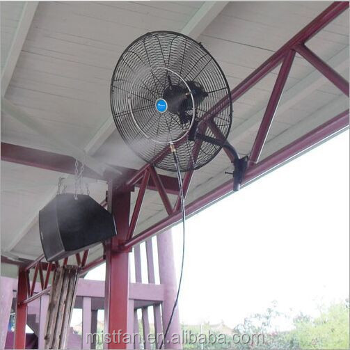 High Pressure Wall Mounted Fan Industrial Dry Mist Fan