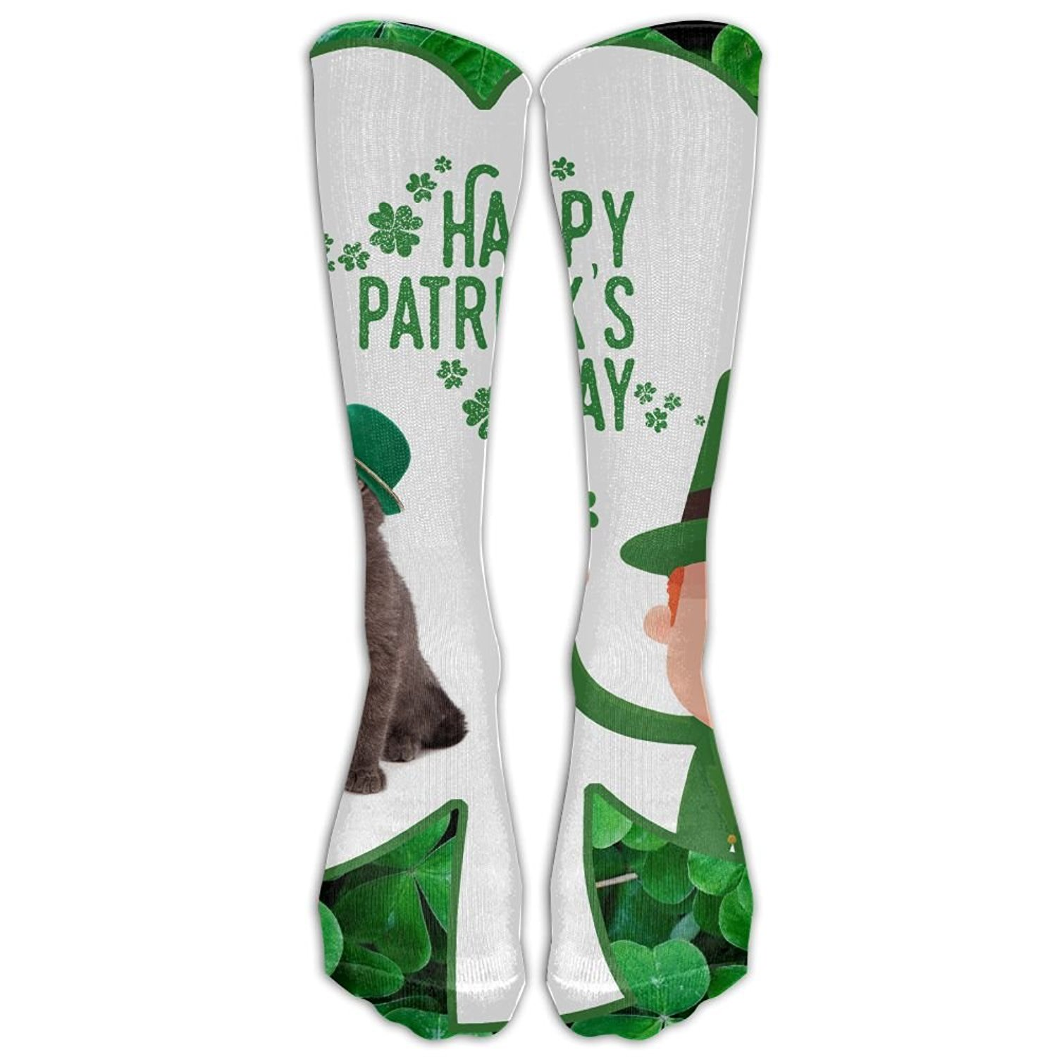 547c5077a31 Get Quotations · St.Patrick s Day Girls Womens Knee Tube Socks Funny  Travelers Volleyball Socks