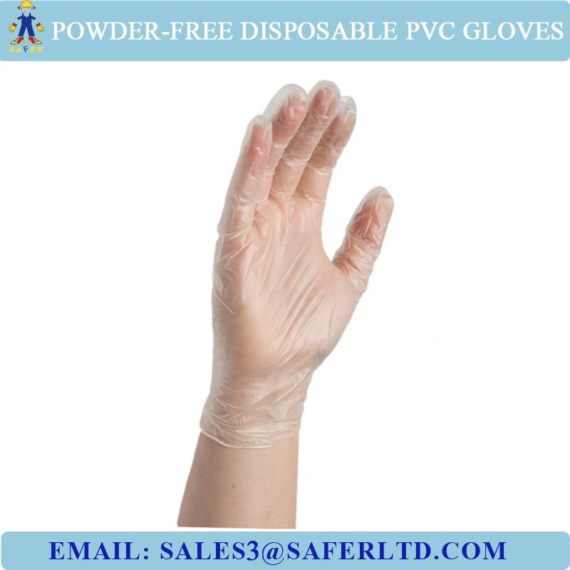 Cfda Certificate Pvc Disposable Transparent Gloves